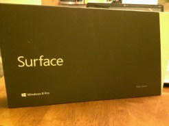 Front of the Surface Pro Box