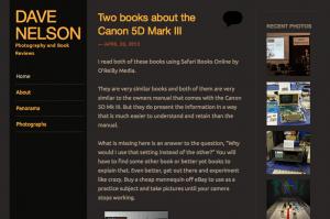 davenelson.com iPad Screen Shot