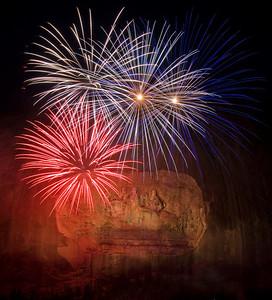 Fireworks at Stone Mountain