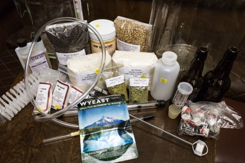Some (yes some) of the equipment and ingredients for making beer