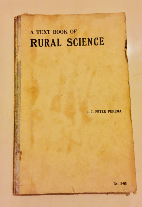 A Text Book of Rural Science – Sri Lanka Books & Ledgers