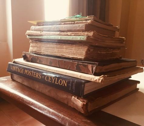 Stack of Artifacts –Sri Lanka Books & Ledgers