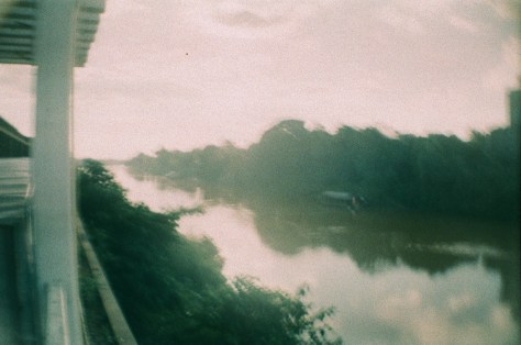 Towns and Trains: gazing down the river from the site of night market