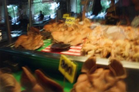 Scenes of Life in Phitsanulok: market meat