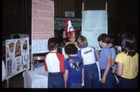Science fair: Grade 5, Tutankhamun's Tomb - providing narration to my fellow students