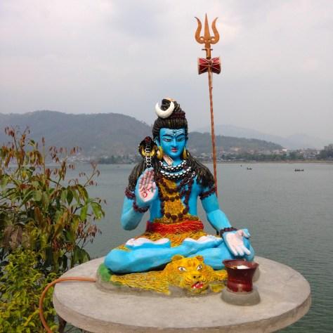 annapurna - buddha - blue buddha lake