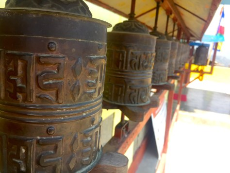 annapurna sunrise prayer wheels