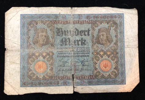 Reichsbanknote (Republic Treasury Notes) - 100 Mark, circa 1920 (front)