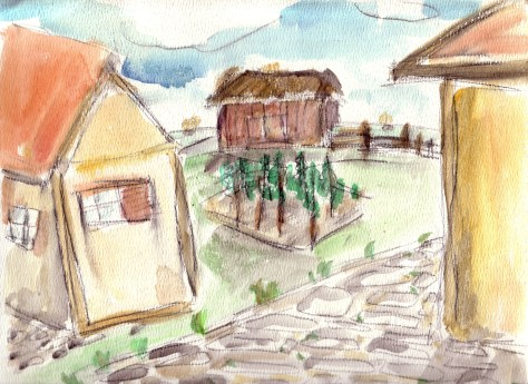 Letters from Russia: Countryside (watercolour)