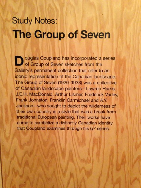 Notes about Group of 7 and Coupland