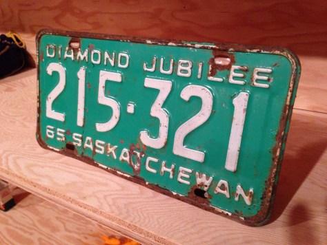 Saskatchewan license plate (green)