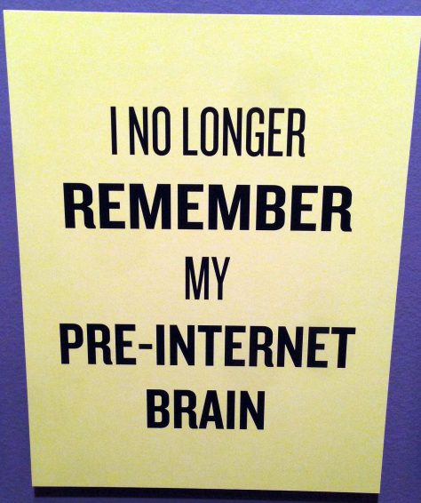 Slogan, no longer remember my pre-internet brain