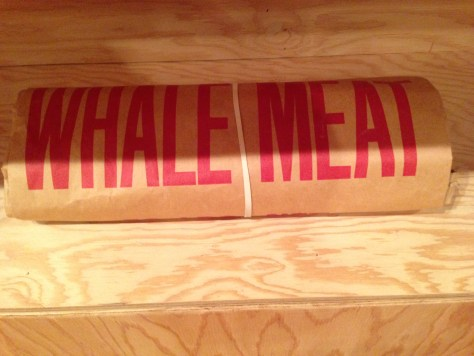 Whale meat package
