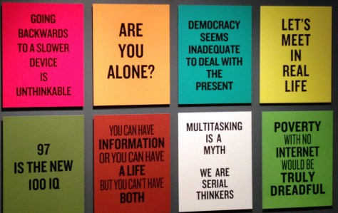 Slogans, screened, various