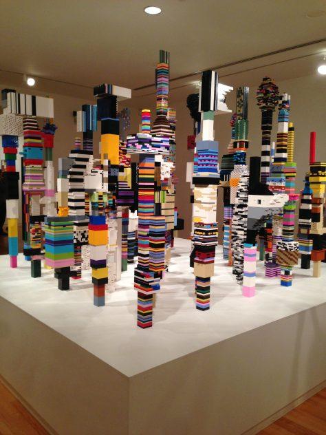 Cityscape of blocks