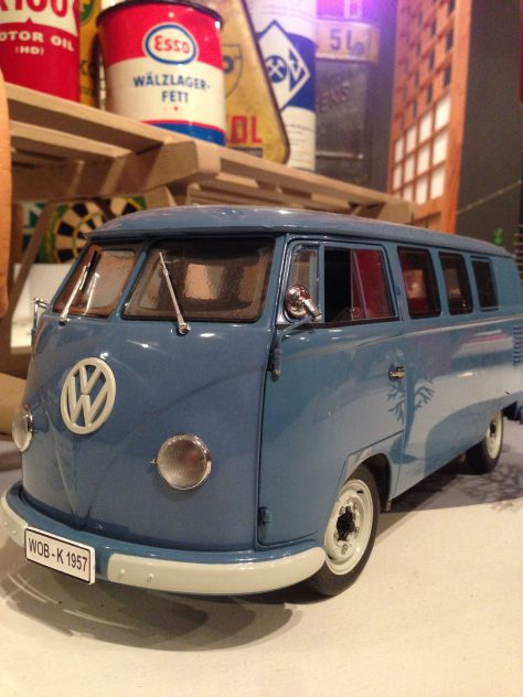 VW bus (blue) model