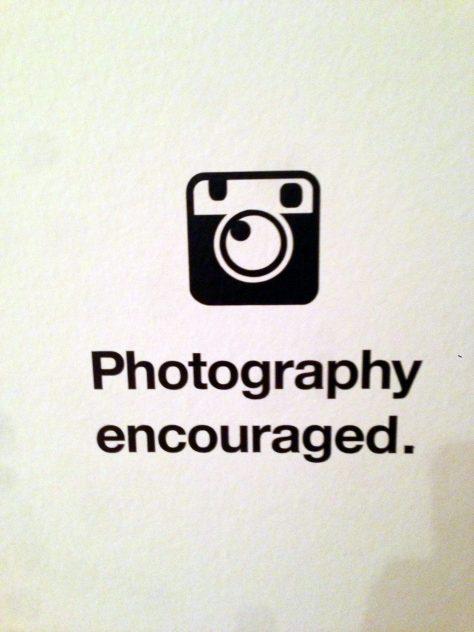 Photography encouraged