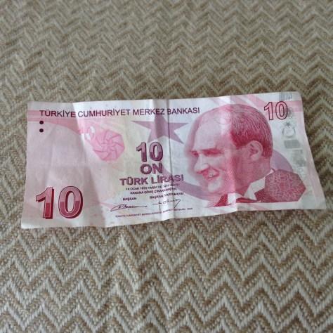 Turkey: Lirasi / Lira (10 –front)