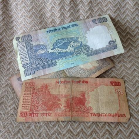 India: Rupee (variety, back)