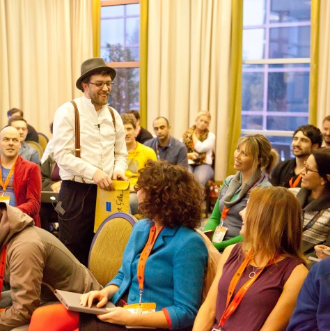 """Dave performs """"Crowd Sourcing Community Projects like Tom Sawyer"""" at SxSW 2012"""