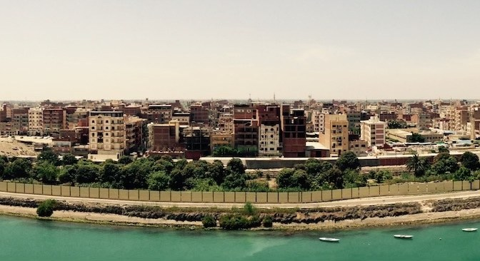 Suez Canal Transit Panorama Views