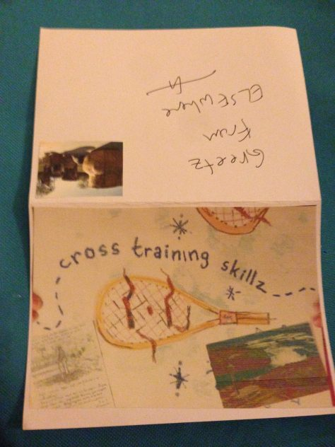 Greetz from Elsewhere: cross-training skillz (add to creative output)