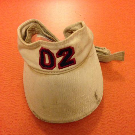 "Hats: ""02"" visor, now resides in Kauai, Hawaii"