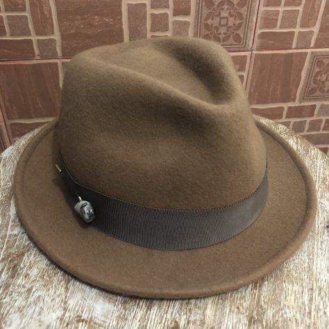 Hats: brown, felt, fedora (acquired Tokyu Hands, Tokyo)