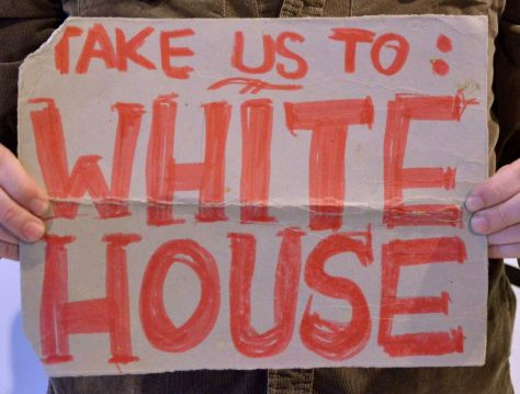 Take us to the White House - used from South Carolina northwards toward Rhode Island, Oct. 1990 (bad idea)