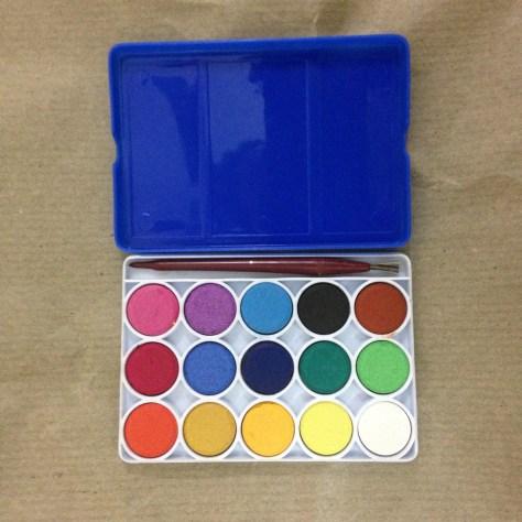 Watercolour set: India, Items Assembled