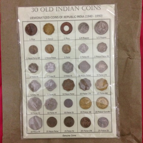 30 Old Indian Coins: India, Items Assembled