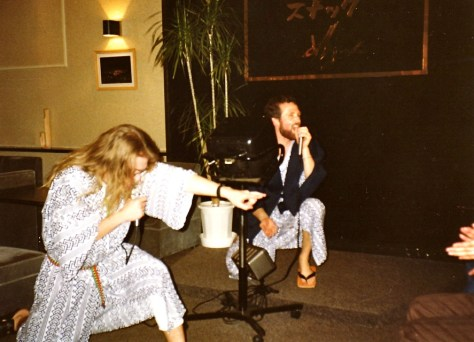 "Misasa, Born to be Wild karaoke, with Mike ""Maddog"", circa 1993"