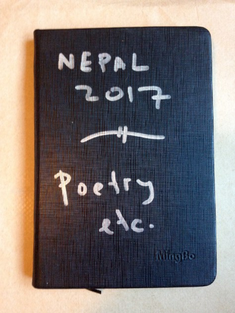 Journal: Nepal / poetry etc. 2017 (black, mingbo cover)