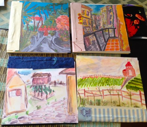 Scrapbooks: For Pacifica (with paintings), 2016