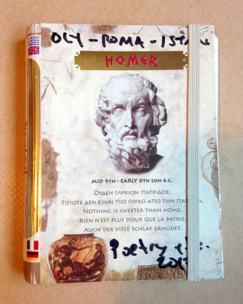Journal: Olympia to Roma / poetry, 2017 (Homer in Greece cover)