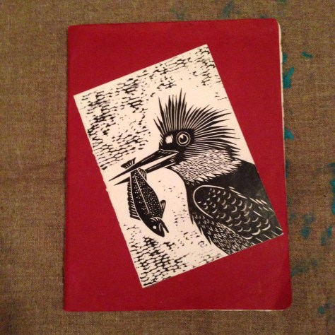 Journal: Lost Life / notes, musings, ephemera, 2013-4 (birdcard, red cover)