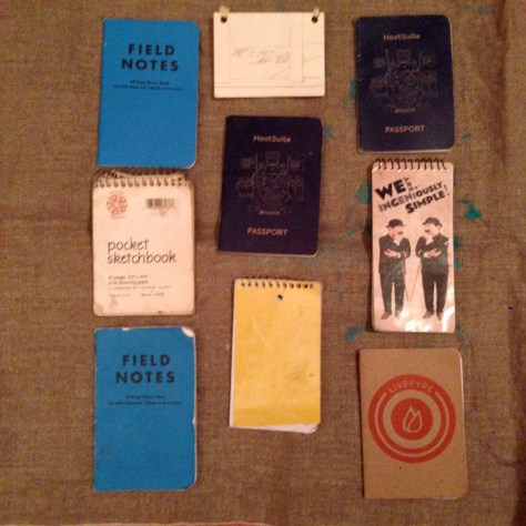 Collection: Variety of notebooks, 2014-2018