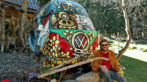 """Earthship"" new incarnation as sauna at Mangy Moose lodge up Big Cottonwood Canyon (near SLC, UT)"