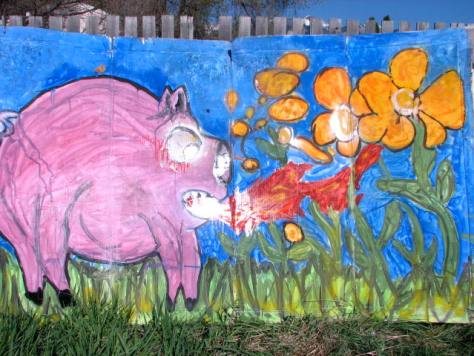 paint-A la Carte-Angry Piglet – Backdrop