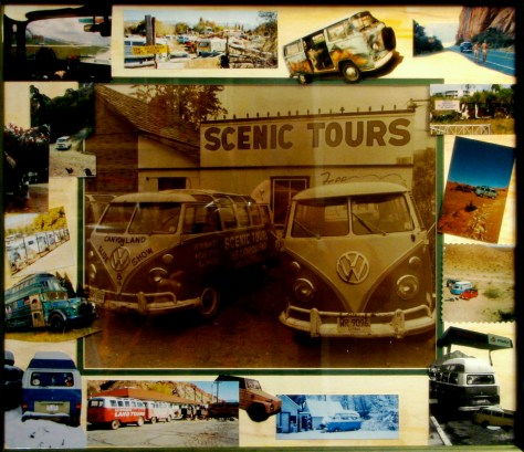 paint-Static Montages-Scenic Tours Moab, Utah etc, 1987  mixed media collage