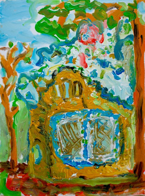 paint-elsewhere-House in Parc Güell (Barcelona, Spain)  acrylic