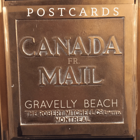 Postcards from Gravelly Beach - Canada Mail Brass box