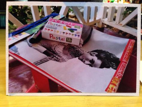 Post'd: art postcards, handmade – Audrey scrapbook (Jamaica)