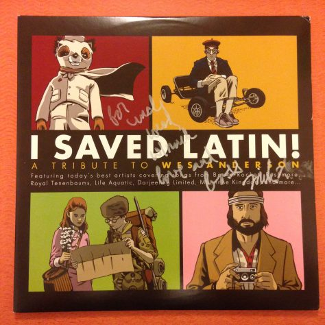 "Full jacket of ""I Saved Latin"" from American Laundromat with ""For Uncle Weed, Much Bass, Mike Watt"""