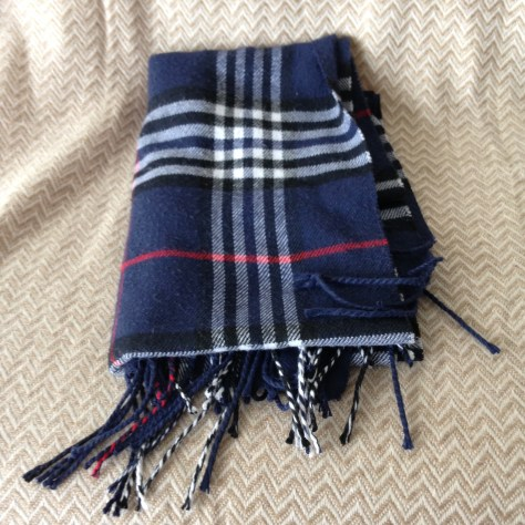 Canada: blue plaid cashmere