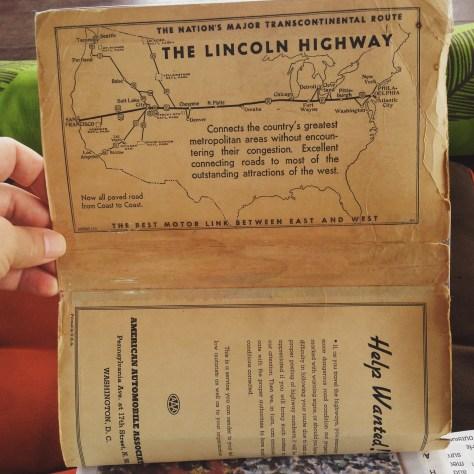Scrapbook: Fck Stats, Make Art workbook, 2015 / Indonesia > Thailand (Lincoln Highway inside cover)