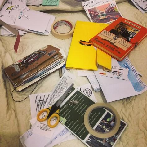 Scrapbook in process