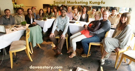 Dave Olson and students at Social Marketing Kung-fu Workshop / Spiel in May 2013
