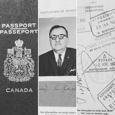 "Thor Aronson - ""Gus Lester"" passport"