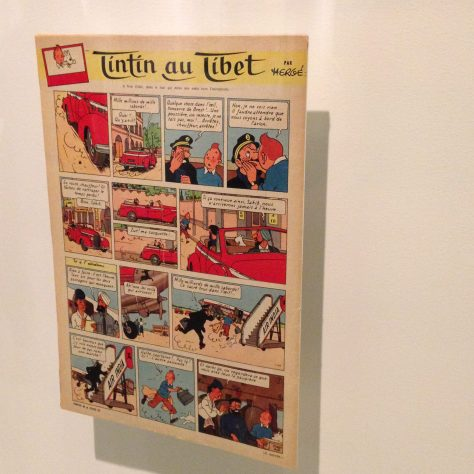 Original printing of Tintin in Tibet (my favourite) – Hergé / Tintin artifacts in Québec City